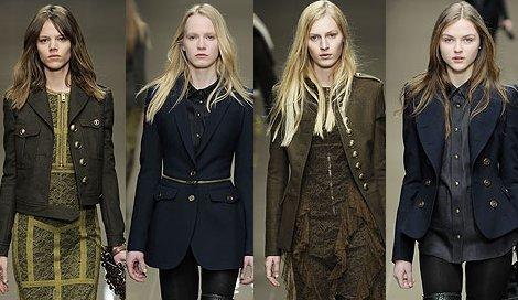 Еще один модный тренд этого сезона - пиджаки в стиле милитари.