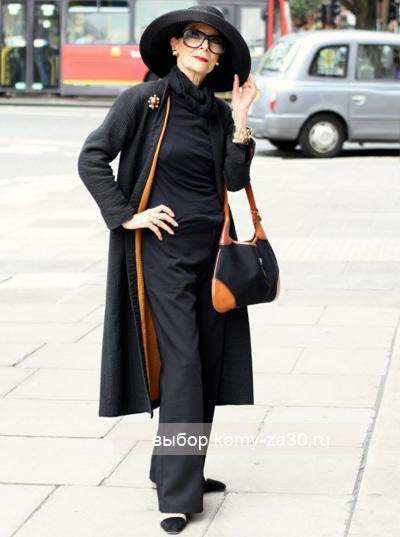 Дама в черном: стройная и элегантная
