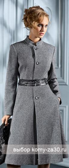 Зимнее пальто для стройных