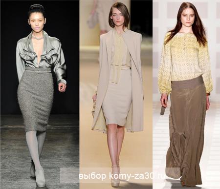 Модные юбки кому за 40