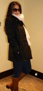 как носить палантин с пальто-1