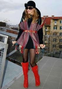 как носить палантин с пальто-3