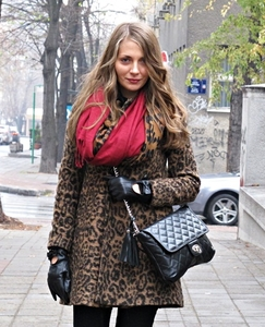 как носить палантин с пальто-4