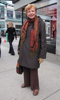 как носить палантин с пальто-5