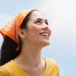 Как повязать платок на голову?