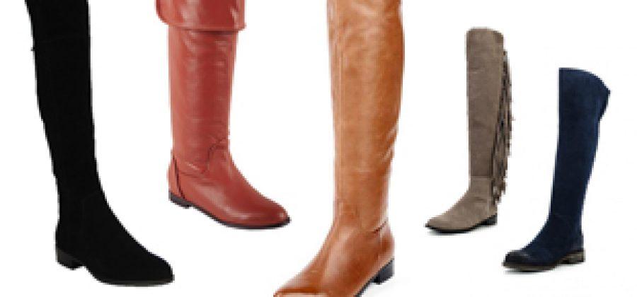С чем носить ботфорты без каблука?
