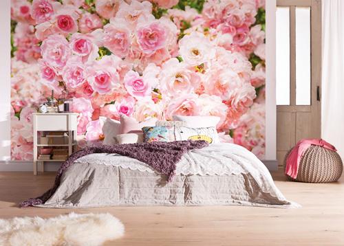 Фотообои для спальни с фотографиями роз - отличное решение!
