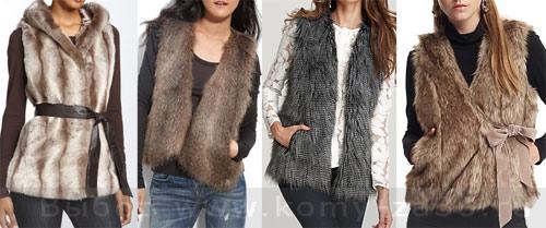Модный жилет, жилет 2011, кожаный жилет, вязаный жилет, жилет из овечьего меха, жилет из искусственного меха, модные жилеты зима 2011